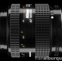 Infografía despiece de objetivo fotográfico Nikon. A 3D&Infographics project by Fran Alburquerque         - 09.04.2015