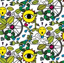 Pattern parauna ciudad sostenible. Un proyecto de Diseño e Ilustración de Luisa Sirvent - Miércoles, 11 de mayo de 2016 00:00:00 +0200