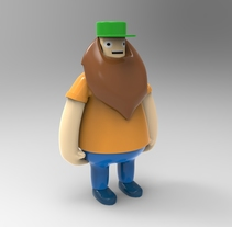Animum School: Barbudo toy. Um projeto de 3D de Erika Beatriz Fernández Martínez         - 10.05.2016