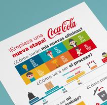 Coca-Cola. Nuevas oficinas. Un proyecto de Ilustración, Diseño gráfico e Infografía de Ainara García Miguel - 09-06-2016