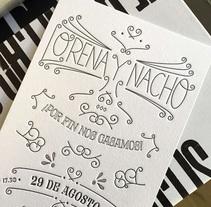 Lorena y Nacho. Un proyecto de Diseño, Diseño gráfico y Tipografía de Raquel Marín Álvarez - 04-07-2016