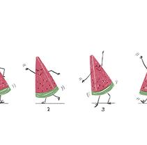 El baile de la sandía.. Um projeto de Ilustração de Ro Ledesma         - 23.07.2016