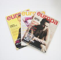 Ilustraciones y maquetación para revista EUROPA. A Illustration, and Editorial Design project by Alejandro Gonzalez Cuenca         - 26.07.2016