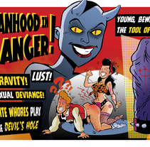 Ilustración collage Manhood in Danger!. A Illustration, and Collage project by Alberto Peral Alcón         - 26.07.2016