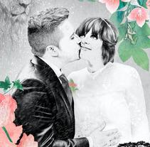 Retrato de boda (encargo). Un proyecto de Ilustración, Dirección de arte y Bellas Artes de Lucía Paniagua - 07-08-2016