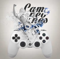 "Play Station ""Campeones"". A Design, Art Direction, and Fine Art project by Juan Vega - 29-05-2016"