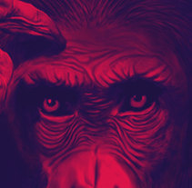 Planet of the Apes - Ilustración. A Illustration, Character Design, and Graphic Design project by Leandro Bos - 11-08-2016