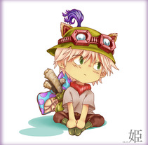 Chibi Teemo Drawing. A Design, and Comic project by Sara Cueva Rodríguez         - 14.08.2016