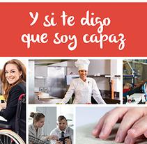 Empleo y Discapacidad 2015 - Imagen y Material Gráfico. Un proyecto de Diseño, Diseño editorial y Diseño gráfico de Nuria Muñoz - 28-08-2016