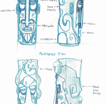 Diseño de vasos TIKI (estilo España). A Design, Illustration, Fine Art, and Product Design project by Eder Bilbao         - 05.11.2015