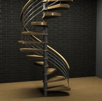 Escaleras de caracol. A 3D, and Architecture project by Susana Costoya         - 11.09.2015