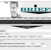 Cuestionario BRIEF-P. A Editorial Design, and Graphic Design project by Ana Cristina Martín  Alcrudo - Sep 13 2016 12:00 AM