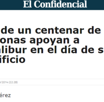 Crónica para EFE: Más de un centenar de personas apoyan a Excálibur. Un proyecto de Escritura de Ángela Pérez Álvarez         - 07.10.2014