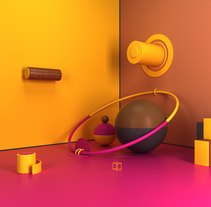 Colorful room. A 3D, Art Direction, and Design project by Luis Yrisarry Labadía - Sep 27 2016 12:00 AM