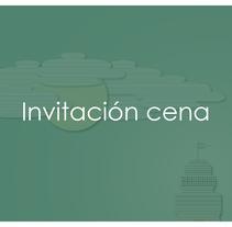 Invitación cena Fin de Curso. Un proyecto de Diseño gráfico de Conchi Fernández Regal         - 28.09.2016