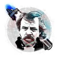 Luke Skywalker; mi proyecto del curso: Retrato ilustrado con Photoshop. Un proyecto de Ilustración y Diseño gráfico de AingeruH         - 05.10.2016