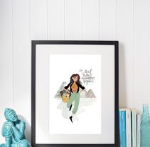 Ilustración personalizada para chica viajera. Um projeto de Design, Ilustração e Artes plásticas de Clara Morales de Paz         - 08.10.2016