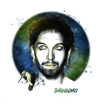 Shuarma: Retrato ilustrado con Photoshop. A Illustration, and Graphic Design project by Mamen Castanedo         - 08.10.2016