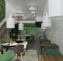 Proyecto 496 Sevilla - Café Bar. Um projeto de Arquitetura de interiores de Javier Calvente         - 09.10.2016
