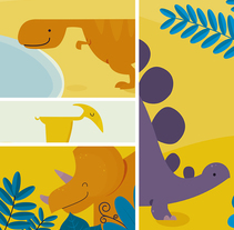 Medidor infantil. Dinosaurios. Un proyecto de Ilustración y Diseño de producto de Ainara Tavárez - 25-01-2016
