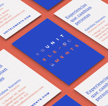 UNITELEMENTS — Experiencias que cambian personas. A Br, ing, Identit, Graphic Design, and Marketing project by Sarai Glahn - 23-10-2016