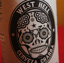West Hell. Cerveza Charra. A Br, ing, Identit, Graphic Design, and Product Design project by Pablo Barba         - 24.10.2016