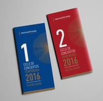 Mozarteum Argentino. Un proyecto de Diseño, Diseño editorial, Diseño gráfico y Tipografía de Mariana López Neugebauer - Miércoles, 30 de noviembre de 2016 00:00:00 +0100