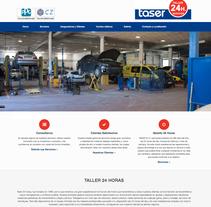 Taser 24 Horas. Um projeto de Design, Marketing, Web design e Desenvolvimento Web de Plat-on.es         - 29.11.2016
