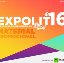 Expolit 2016 - Material Promocional. Um projeto de Design, Br, ing e Identidade, Design de vestuário, Design gráfico e Mídias Sociais de Natanael Becerra Andrade         - 04.09.2016