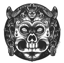 MASCARAS.. Un proyecto de Ilustración, Diseño de personajes y Arte urbano de Tavo Santiago - 10-12-2016