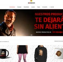 R4NDOM: Tienda online de productos en tendencia . Um projeto de Design e Desenvolvimento Web de jemimagallardo         - 19.12.2016