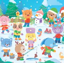 Kawaii Winter!. Un proyecto de Diseño, Ilustración y Diseño de personajes de Pamela Barbieri - 20-12-2016