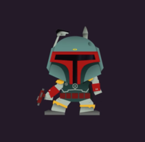 Motion Boba Fett's Dance. A Design, and Animation project by Noelia Muñoz         - 22.12.2016