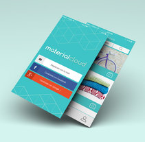 Material Cloud Web & App design. A Br, ing, Identit, Graphic Design, Information Architecture, Interactive Design, To, Design, and Web Design project by Muak Studio | Visual Communication Strategies          - 27.12.2016