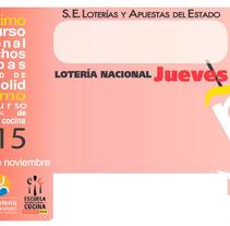 Décimo Lotería de Navidad 2015. Un proyecto de Diseño, Publicidad y Consultoría creativa de Eduardo García Indurria         - 14.12.2015