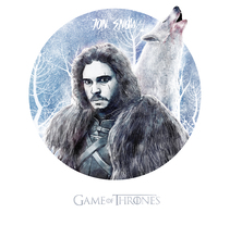 Mi Proyecto del curso: Jon Snow GOT. A Illustration project by oriol civico puigrodon         - 06.01.2017