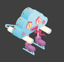 Mi mini mecha kajiu. A Illustration project by anna_perez_fuertes - Jan 12 2017 12:00 AM