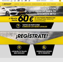 Diseño Web para Dunlop. Un proyecto de Diseño, Publicidad, Diseño gráfico y Diseño Web de Javier Gómez Ferrero - 13-01-2017