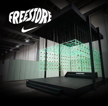 Nike Freestore. A Advertising, Architecture, Industrial Design, and Marketing project by Daniel Granatta - 05-04-2013