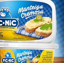 Manteiga Picnic - Proyecto para redesign de las mantequillas Pic Nic (Paraná/Brasil). Um projeto de Br, ing e Identidade e Packaging de Edmundo Miranda         - 23.01.2017