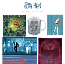 JOTA HAN -Creative-. Un proyecto de Ilustración, Br, ing e Identidad, Diseño Web y Desarrollo Web de NIBEL UNGO         - 26.01.2017