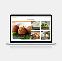 Blog sobre el vegetarianismo. A Web Design project by Sara Couso Espinosa - 19-10-2016