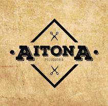 Peluquería Aitona. Un proyecto de Diseño, Br, ing e Identidad y Diseño gráfico de Rodrigo Alfaro         - 01.02.2017