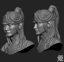 Choi Minho's drawing and 3D modeling from Hwarang:The Beginning. A Design, Illustration, 3D, and Sculpture project by Sara Cueva Rodríguez         - 04.02.2017