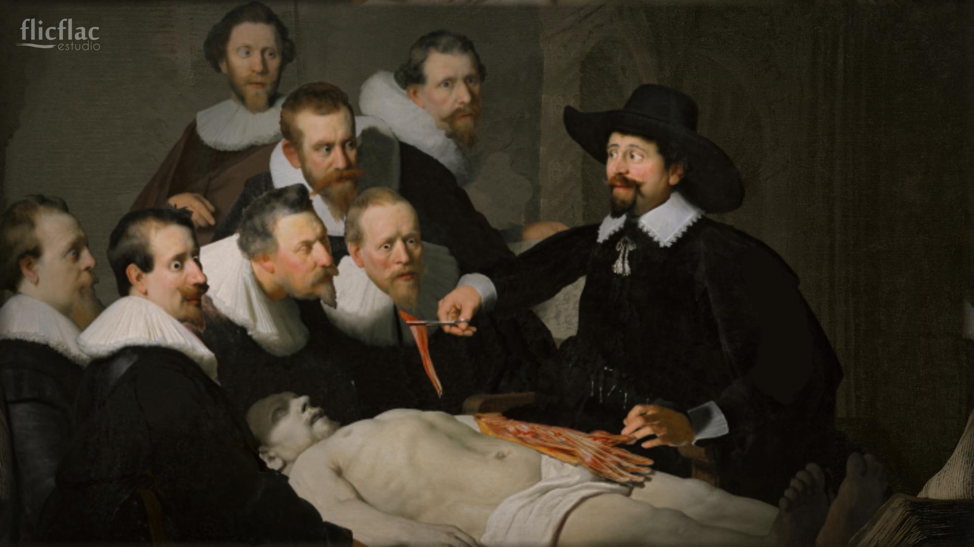 Rembrandt y flicflac estudio. (Lección de anatomía del Dr. Nicolaes ...