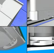 Montaje Mampara CGI 3D año 2000. Un proyecto de 3D, Animación, Diseño industrial y Vídeo de Ivan C         - 28.02.2007