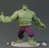 Hulk. A Illustration, 3D, Animation, and Sculpture project by Luis Arizaga - 12-02-2017