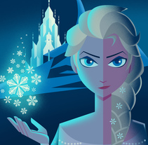 Disney Art Déco posters. A Illustration, and Graphic Design project by David G. Ferrero         - 14.02.2017