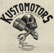 KUSTOMOTORS Cafe garage . A Illustration, Br, ing, Identit, T, and pograph project by Abraham García  - 11-02-2016