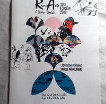 Folleto diptico de una de mis exposiciones. Um projeto de Ilustração e Design gráfico de raquel arriola caamaño         - 14.07.2016